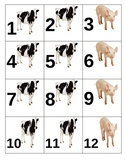 Calendar Numbers- farm animals