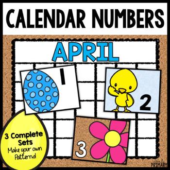 Calendar Numbers for April