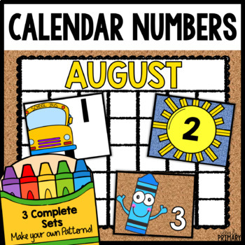 Calendar Numbers for August