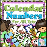 Calendar Numbers BUNDLE for All Year | Calendar Numbers and Months