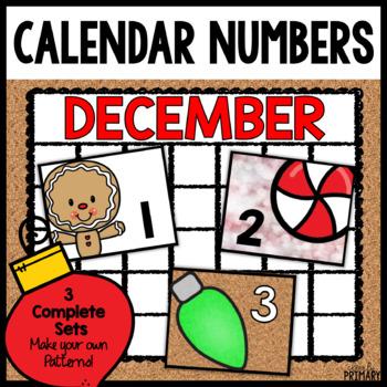 Calendar Numbers for December