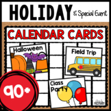 Holiday Calendar Numbers