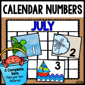 Calendar Numbers for July