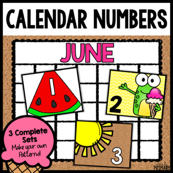 Calendar Numbers for June
