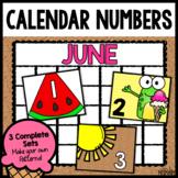 Calendar Numbers for June