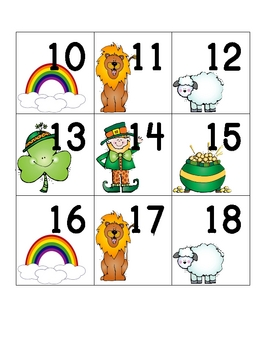 Calendar Numbers for March