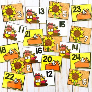 Calendar Numbers for November