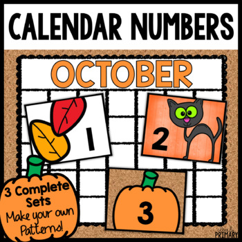 Calendar Numbers for October