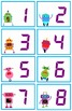 Calendar Numbers for Pocket Charts or Bulletin Boards (Robots Theme)