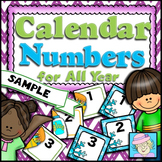 Calendar Numbers for All Year FREE | Back to School FREEBIE