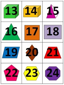 Calendar Numbers on 2-D and 3-D Geometric Shapes