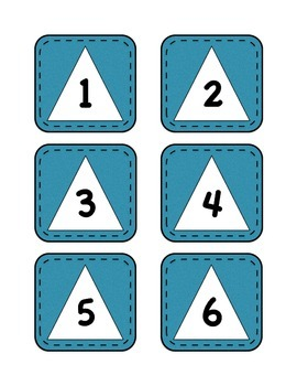 Calendar Numbers with Shapes