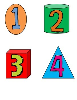Calendar Numbers with Two-Dimensional & Three-Dimensional Shapes