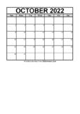 Calendar October 2021 (FREE Blank PDF Format)