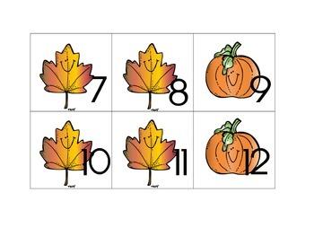 Calendar October Pattern Cards - AAB Pattern