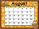 Calendar - Owl Theme - School Year Calendar 2018-19