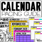 Calendar Pacing Guide Template {Freebie}