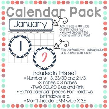 Calendar Pack (2 colors choices)