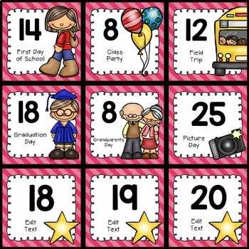 Calendar Pack - Editable {Brights Classroom Set}