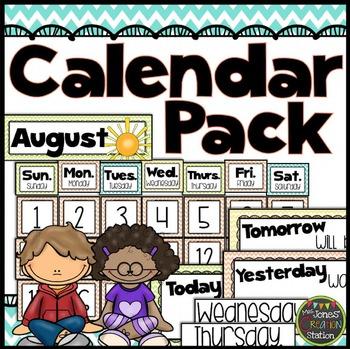 Calendar Pack {Chevron Classroom Set}