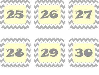 Calendar Pack Gray Chevron