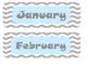Calendar Pack Gray Chevron