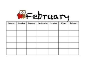 Calendar Pack (Great for citizenship, weather, homework, etc.)