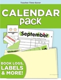 Calendar Pack (Months, Weather, Labels, Book Logs and More)