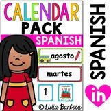 SPANISH Calendar Pack- Polka Dot Theme