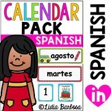 SPANISH Calendar Pack- Polka Dot Theme