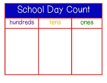 Calendar Pack School Day Count, Tooth, Tally