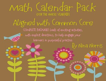 Calendar Pack for the WHOLE Year