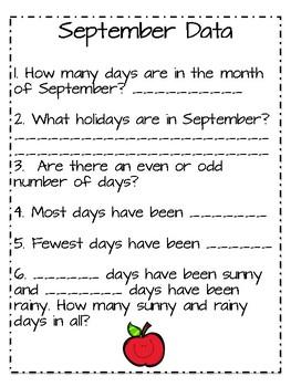 Calendar Packet- 10 MONTHS