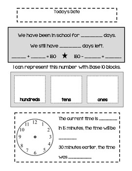 Daily Math Practice Pages