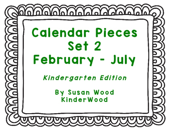 Kindergarten Calendar Pattern Pieces Set 2 (February - July)