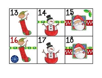 Calendar Patterns for Teaching Math (Santa Theme)