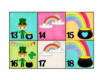 Calendar Patterns to Teach Math (March/St. Patrick's Theme)