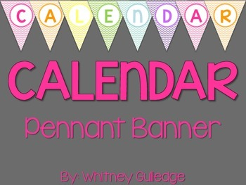 Calendar Pennant Banner