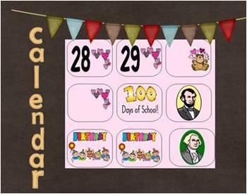 Calendar Piece AAB Pattern February
