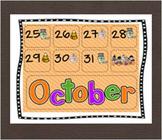 Calendar Piece Patterning ABC Halloween Theme