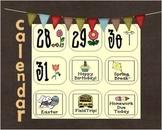 Calendar Piece Patterning ABCD Spring