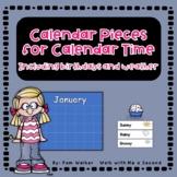 Back to School Classroom Calendar Pieces