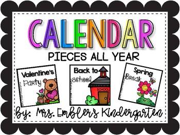Calendar Pieces ALL YEAR LONG