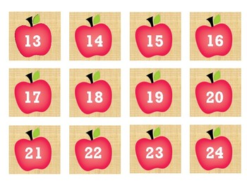Calendar Pieces- APPLES - 2 designs