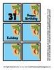 Calendar Pieces - Alligator Fun - 3 designs - Memory / Concentration Game too