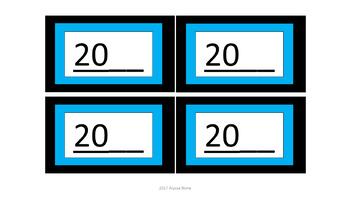 Calendar Pieces/Bulletin Board Set - Aqua