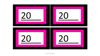 Calendar Pieces/Bulletin Board Set - Black & Pink