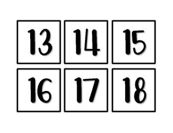 Calendar Pieces - Black & White