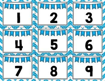 Calendar Set- Blue Chevron