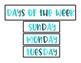 Calendar Pieces - Blue Ombre